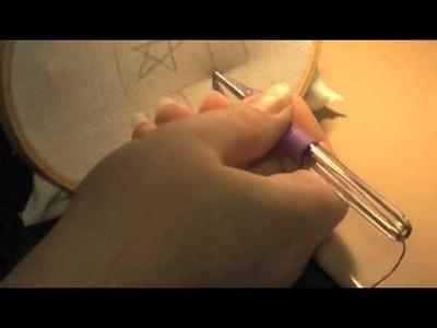 Punchneedle Punch Needle Embroidery Lesson - Mysimplewalk.com