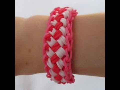 Rainbow Loom- How to Make a Chinese Finger Trap Bracelet (Original Pattern)