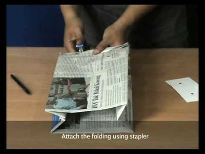 RENEWS (HOW TO MAKE NEWSPAPER BAG): STAPLE VERSION