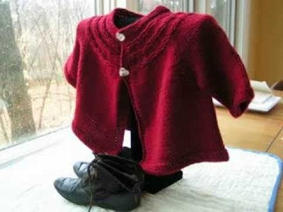 Seamless Yoked Baby Sweater Free Pattern