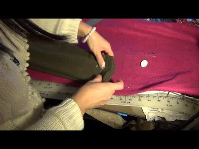 SEWING BY LOAN SF SHORTEN AND TAPER  SLEEVES SWEATER