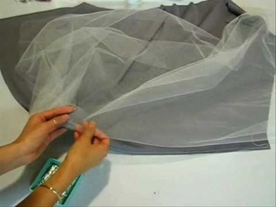 The Sewing Studio: Grey Princess Dress With Tulle & Lace