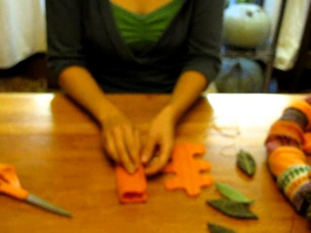 Thrifty Art Thursday: Making a Fall Wreath out of Felted Sweaters