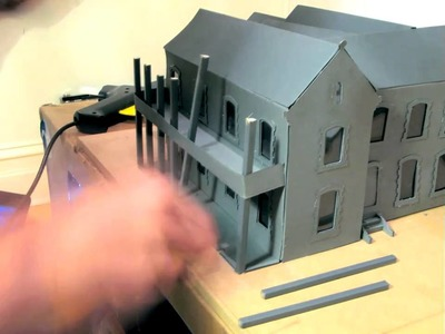 Time lapse of model making - School building - Complete version