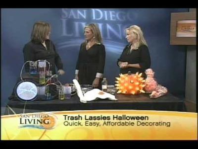 Trash Lassies on San Diego Living - Halloween Decorating ideas