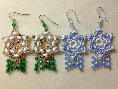 (Tutorial) Star Of Bethlehem Earrings (Video 23)