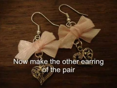 Tutorial: Sweet Lolita Bow Earrings with Charm