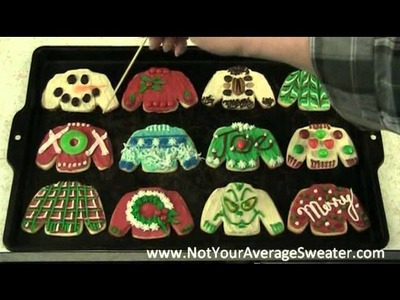Ugly Christmas Sweater Party Activity:  Decorating Sweater Cookies