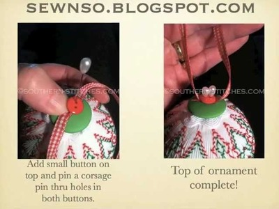 Vertical Smocked Christmas Ornament Tutorial