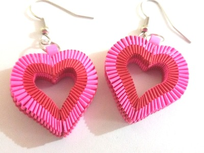 6. How to make Paper Weaving Heart Shape Earrings