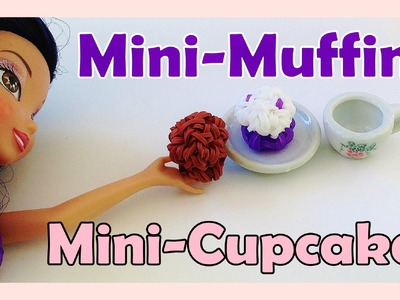 Barbie Rainbow Loom Charms Mini Muffin. Cupcake - How to Make (crazy loom bands, fun loom)