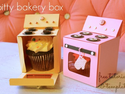 Bitty Bakery Cupcake Box (FREE template!)