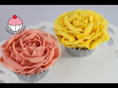 Cupcakes! Make Vintage Rose Cupcakes Using Buttercream - A Cupcake Addiction How To Tutorial