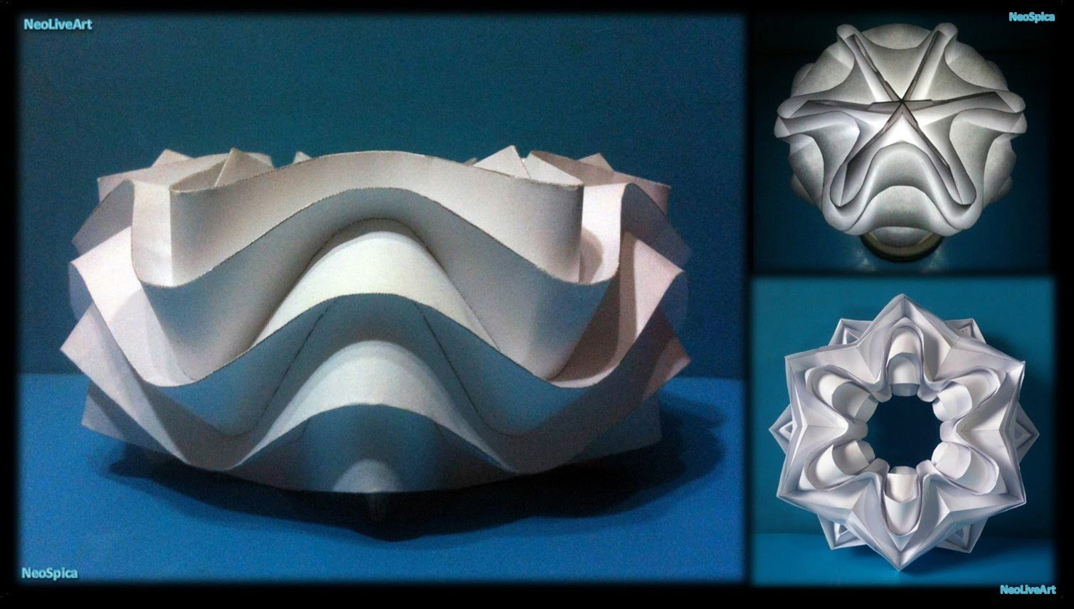 Curved Folding Paper (Ball Cylinder Star)