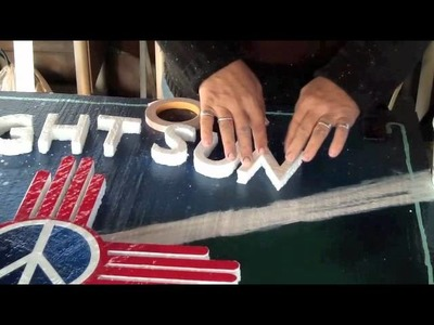 Cutting Out Letters by Hand From Foam