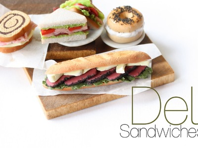 Deli Sandwiches - Polymer Clay Miniature Food Tutorial