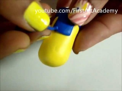 Despicable Me 2 - Key Chain Polymer Clay - Art Tutorial