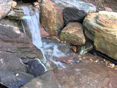 DIY Pondless Waterfall