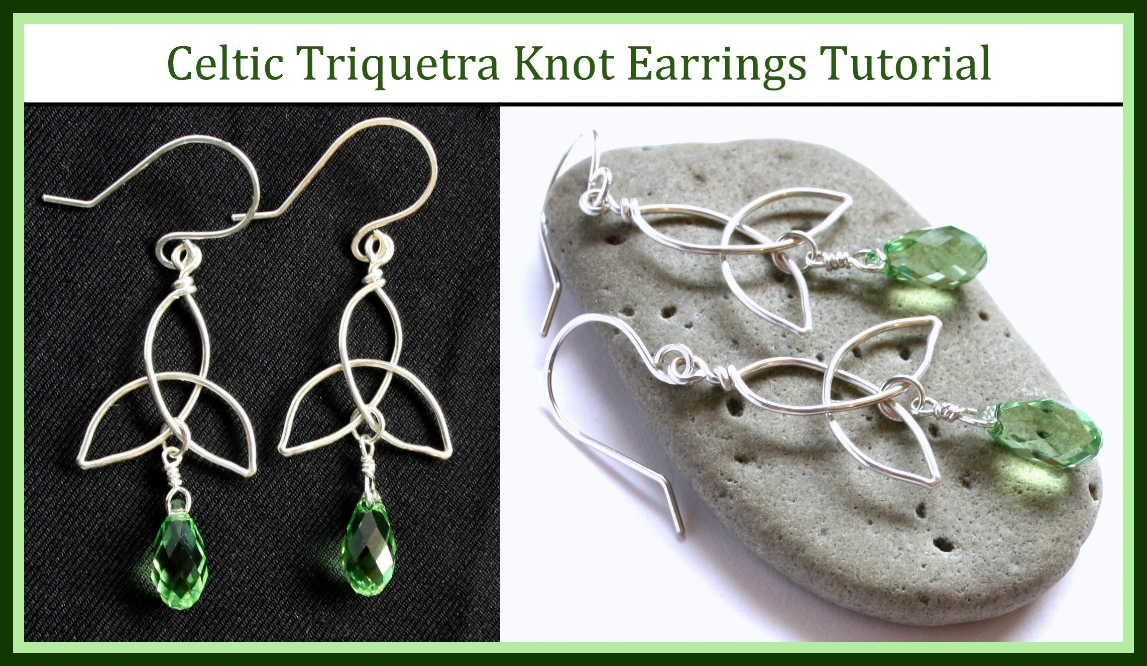 Easy Jewelry Tutorial : How to Make a Celtic Knot Charm & Trinity Knot Earrings : Wire Wrapped