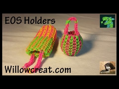 EOS Holder Single Double - Eyeglasses Sunglass Holder on Rainbow Loom