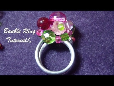 Fun Bauble Wire Wrap Ring Tutorial!
