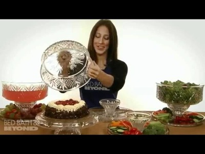 Godinger Dublin Crystal 4-In-1 Footed Cake Plate with Dome Cover at Bed Bath & Beyond