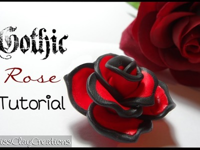 Gothic Rose tutorial by MissClayCreations