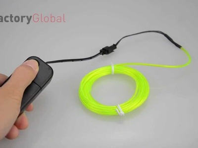H8931 3M Flexible Neon Light EL Wire Rope Tube with Controller