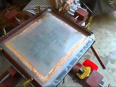 Homemade diy silkscreen stretcher 1