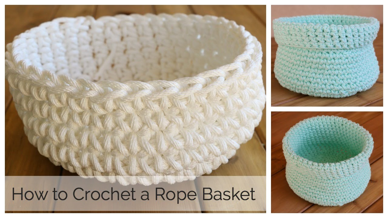 How to Crochet a Basket