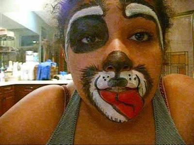 How To Do Kids Face Painting Of A Dog