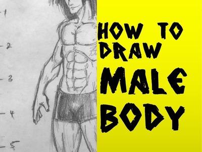 How to Draw Manga Male Body