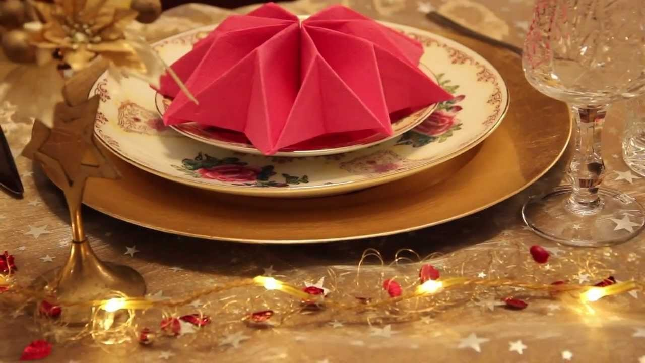 How to fold napkins - Three decorative ways - Star, leaf and crown