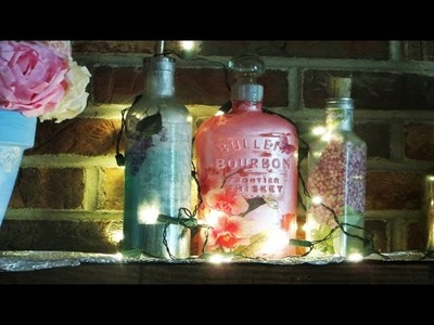 How to Liquor Bottle Upcycle Decoupage Mouthwash bottles
