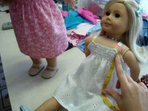 How to make a Gathered dress for your American Girl Doll Part 1