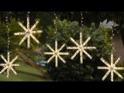 How To Make A Homemade Snowflake Decoration