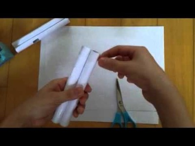 How to make a Paper Blowgun and Darts Easy