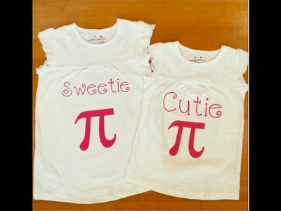 How to Make a Pi Day Shirt with Silhouette Cameo and Heat Transfer Vinyl