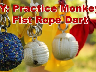 How to Make a Practice Rope Dart. Monkey's Fist Knot (Part 2a of 4)