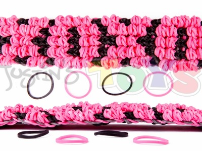 How to Make a Rainbow Loom Puffy Name Bracelet Tutorial - XOXO