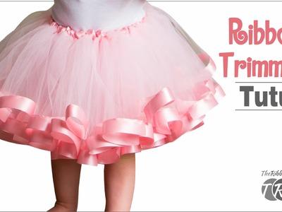 How to Make a Ribbon Trimmed Tutu - TheRibbonRetreat.com