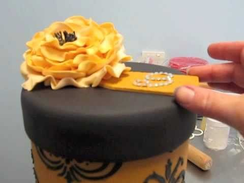How to make a sugar peony rose part 2 Inspired by Michelle Cake Designs.m4v