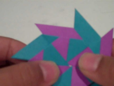 How to Make a Transforming Ninja Star Frisbee (8 - Pointed)