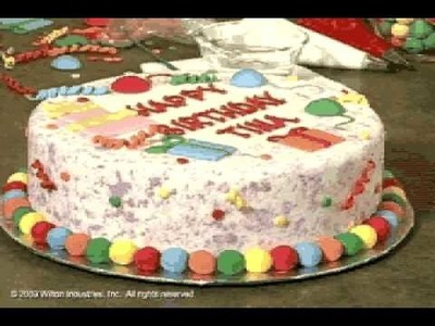 How to Make and Decorate a Dazzling Day Birthday Cake by Wilton