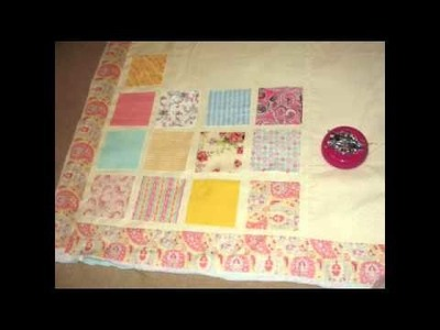 How to Make and Sew a Patchwork Raggedy Quilt