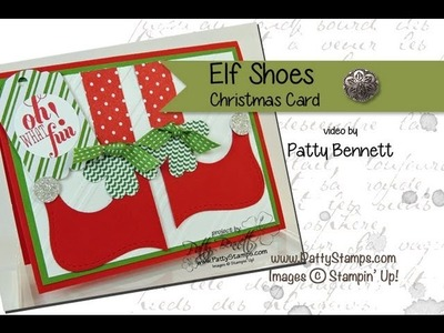 How to Make Elf Shoe Christmas Card with the Top Note Die