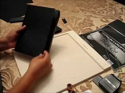 How to make envelope pages out of cardstock for mini albums