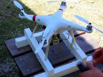 How to make floating landing gear for DJI Phantom quadcopter