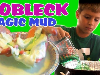 HOW TO MAKE MAGIC MUD OOBLECK Easy Kids Science Experiments