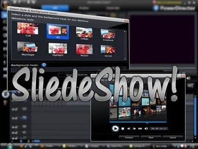 How to make slide-show in Power Director
